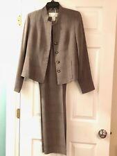 New Doncaster Women's Brown Plaid Pantsuit Pants 6 Jacket 4 Never Worn