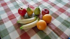 Lot of 8 realistic pieces of plastic fruit