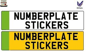 ELECTRIC CAR PLUG IN PLAIN GREEN NUMBERPLATE NUMBER PLATE STICKER DECAL VINYL