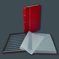 Briefmarkenalbum, Einsteckbuch Einsteckalbum, 60 Seiten schwarz in ROT