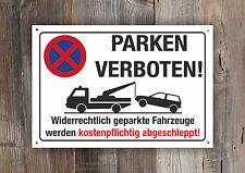 Halteverbot Schild Parken verboten Parkverbot Hinweis vorgebohrt Lochbohrung