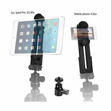 ohCome 2-in-1 Phone iPad Tripod Mount Adapter Universal Tablet Clamp Holder f...