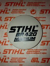 STIHL br420 magnum model tag recoil name plate badge tag NEW OEM