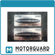 2x Clifford/Viper/MotorGuard Car Alarm Window Stickers