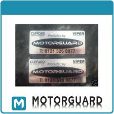 2x clifford/viper/motorguard Alarma de automóvil ventana Stickers