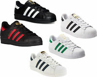 Adidas Originals Superstar J Shoes Kids Sneakers White Black NEW