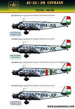 Hungarian Aero Decals 1/72 JUNKERS Ju-52/3M Hungarian Civil Airlines