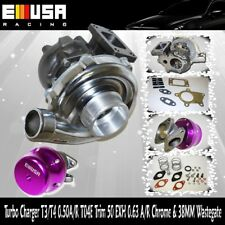 T3/T4 Turbo Charger .50 A/R T04E T3 T4 RSX K20 EP3 DC5 DC2 R18 Si+38mm Wastegate