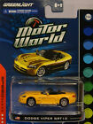 GREENLIGHT COLLECTIBLES 1:64 SCALE DIECAST METAL YELLOW DODGE VIPER SRT-10