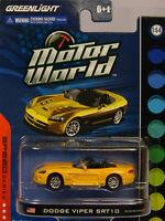 YELLOW DODGE VIPER SRT-10 GREENLIGHT 1:64 SCALE DIECAST METAL MODEL CAR