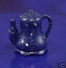Miniature Dollhouse Blue Spatterware Pot New
