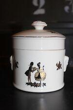 Ravissant pot ancien - Sarreguemines - Trianon - Bonbons - Bonbonnière