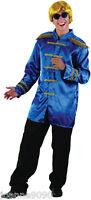 Mens 60s 70 Sgt Sergeant Pepper Beatles Pop Rock Star Fancy Dress Costume Jacket