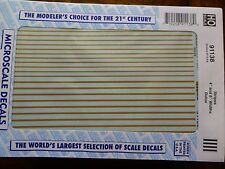 """Microscale Decal #91138 Stripes 4"""" and 6"""" Widths - Dulux (1:87 Scale)"""
