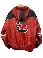 Vintage South Carolina Gamecocks Retro 90's Vtg M Full Zip Jacket Coat Fits Big