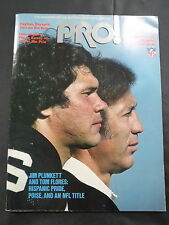 1981 PRO NATIONAL FOOTBALL LEAGUE MAGAZINE - PREMIER ISSUE JIM PLUNKETT RAIDERS