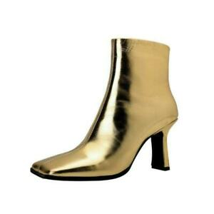 Sexy Women's Ankle Boots Zip Up High Heel Square Toe Sexy Shoes Party 40 41 42