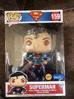 "IN HAND Funko POP Jumbo DC Comics SUPERMAN CHASE 10"" Inch 159 Walmart Exclusive"