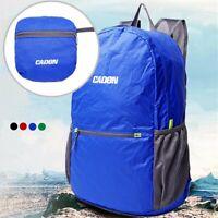 35L Faltbar Wasserdichte Nylon Rucksack Tasche Für Außen Zelten #O