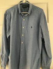 Ralph Lauren Classic Fit Blue,Gray and Black Striped Dress Shirt Size XL