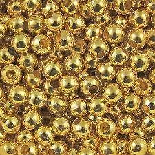 100 x6mm 50 x8mm Bronze Gold&Silver Plated Metal Round Spacer Beads