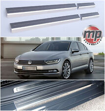 VW Passat 2015> Stripe Stainless Steel Kick Plate Car Door Sill Protectors -4pce