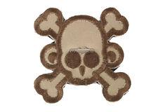 MM Monkey Skull & Cross Bone Velcro Patch (Desert) 4313