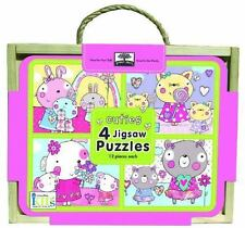 green start jigsaw puzzle box sets: cuties (4 - 12 piece puzzles) by  in Used -