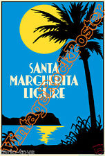 SANTA MARGHERITA LIGURE, Italy - poster artistico turistico tourist travel new