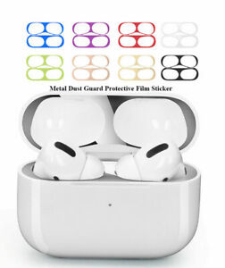 Metal Dust Guard Sticker Decal Skin Protector For Apple AirPods 1/2 Pro Case US