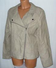 Gina Benotti ~ Damen Jacke / Übergangsjacke im Leder-Style ~ Gr. 46 ~ beige