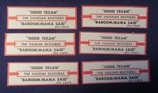 Lot of 6 Jukebox Tags 45 Rpm Title Strips The Vaughn Brothers