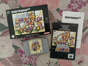 PAPER MARIO ✰ Nintendo 64 PAL EUR ✰ Excellent CIB ✰ n64 snes nes super zelda