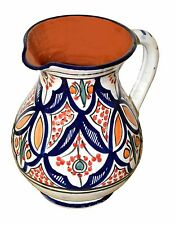 Sangria Pitcher Moroccan Ceramic Beverage Dispenser Jar Water Juice Cooler New