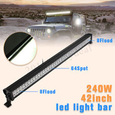 42Inch 240W LED LIGHT BAR FLOOD SPOT WORK LAMP 4WD FOR OFF ROAD SUV PICKUP ATV