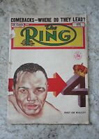 RARE VINTAGE JUNE 1950 THE RING BOXING MAGAZINE - JERSEY JOE WALCOTT
