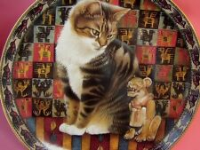 LESLEY ANNE IVORY TABBY CAT PLATE MALTEAZER IN PERU CATS AROUND THE WORLD