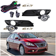 For Nissan Sentra Sylphy 2013-2015 Clear Bumper Driving Fog Lamps Switch+Bezel