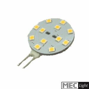G4 LED Stiftsockel - 12x SMD 2835 – 239Lm - 2,2W(=20W) (Scheibe) – warm-white