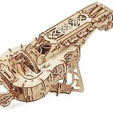UGears Mechanical Models 3-D Wooden Puzzle - Hurdy Gurdy Musical Instrument