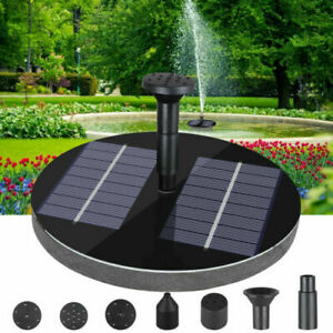 1.6W Solar Floating Fountain Water Pump with 5 Nozzles for Bird Bath Garden