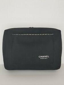 Chanel ParfumsToiletry Bag Makeup Cosmetics Travel Organizer Case Black