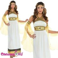 Ladies Toga Cleopatra Egyptian Greek Goddess Roman Fancy Dress Up Costume