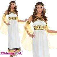 Ladies Toga Cleopatra Egyptian Greek Goddess Roman Fancy Dress Up Costume