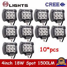 "10X 4""inch 18W Cree Spot Pod Lights LED Work Light Bar Off-road Driving SUV Jeep"