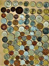"World Coins lot ""A"",100+ mixed w/silver,Bimetallic(3) +vintage(2)+ A.U/.B.U.(6+)"