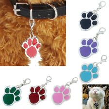 LN_ EG_ Paw Dog Puppy Cat Anti-Lost ID Name Tags Collar Pendant Pet Accessorie
