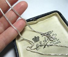 """Lovely Solid Sterling Silver Chain 23.75"""" Long 60.5 cm JEWELLERY NECKLACE 2.55g"""