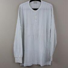 Comme Des Garcons Homme Mens Striped White Long Sleeve Henley Shirt K96