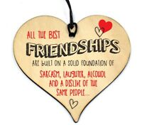 #765 Friendship Sign Best Friend Plaque Gift Shabby Chic Wood Hanging Heart